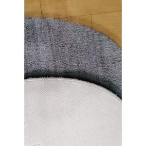 Gri Oval Tavşan Tüyü Peluş Halı -ph2512