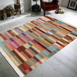 Renkli Tuğla Desen Dekoratif Halı -rtddh084
