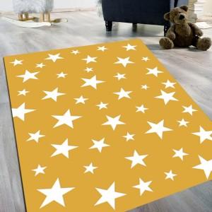Sarı Yıldız Model Kaydırmaz Taban Halı -symkth092