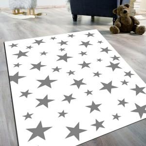 Yıldız Gri Kaydırmaz Taban Halı -ygkth099