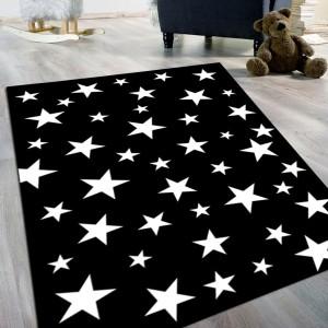 Yıldız Siyah Beyaz Kaydırmaz Taban Halı -ysbkth096