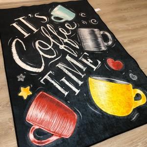 Renkli Kahve Fincanı Mutfak Halısı - kymh372